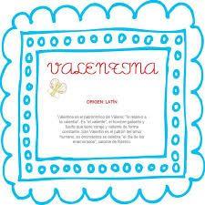 Resultado de imagen para origen del nombre valentina