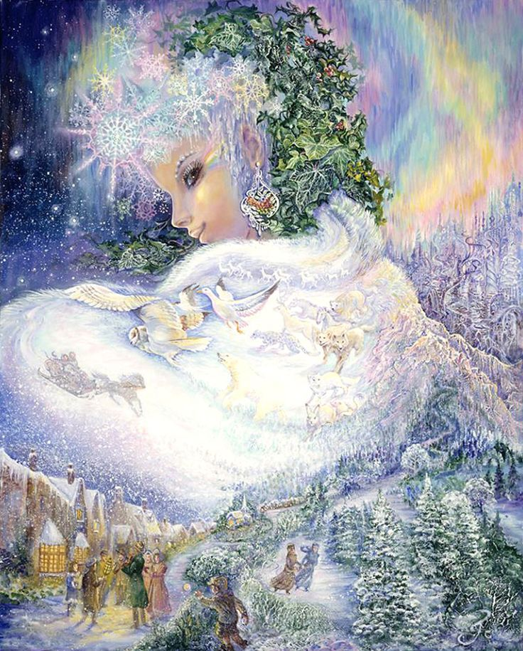 """❄A MidWinter's Night's Dream❄...By Artist """"Snow Queen 2"""" Josephine Wall..."""