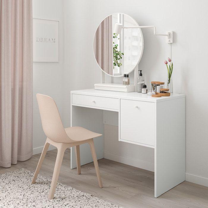 Syvde Toilettafel Wit Ikea In 2020 Dressing Table Design Ikea Dressing Table White Vanity