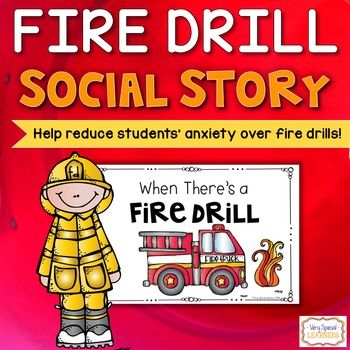 Many students get nervous or anxious over fire drills. This social story will help ease those worries! There are 20 different pages in this social story. Pages are half size and can be stapled together. Simply print, cut and add the pages you need! Read with student(s) before a fire drill.