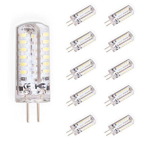 Lot de 10G4Ampoule à LED Lampe Ampoules halogènes G4Blanc froid, de rechange pour ampoule halogène 30W, 250lumen, DC 12V, 3W: Facile…