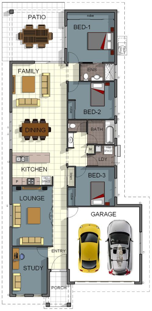 Cosmo 2 grady homes floor plan design 3 bedroom 2 for Cosmopolitan home designs