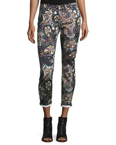 7+For+All+Mankind+the+Ankle+Skinny+Printed+Jeans+Underground+Paisley+|+Pants,+Clothing+and+Workwear