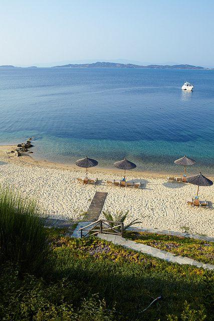 Beach in Chalkidiki, Greece