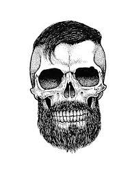 skull with beard tattoo - Google Search
