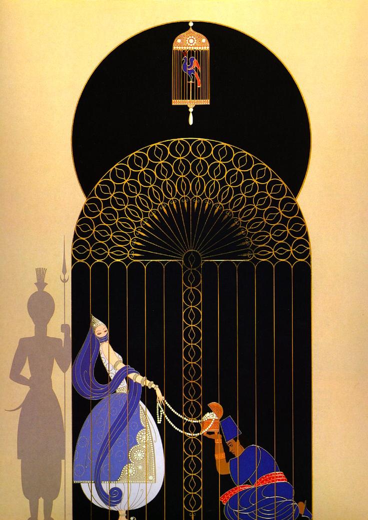 Art by Erté (Romain de Tirtoff), Russian-born French artist. (1892 – 1990)