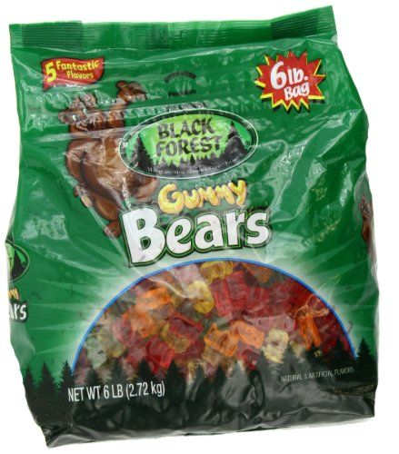 Black Forest Gummy Bears Ferrara Candy, Natural and Artificial Flavors, 6 Pound Natural&Artificial Flavors..  #Black_Forest #Grocery