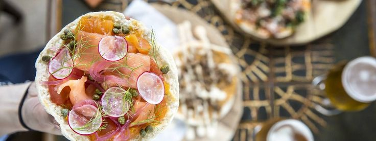Smoked Salmon and Fennel Flatbread