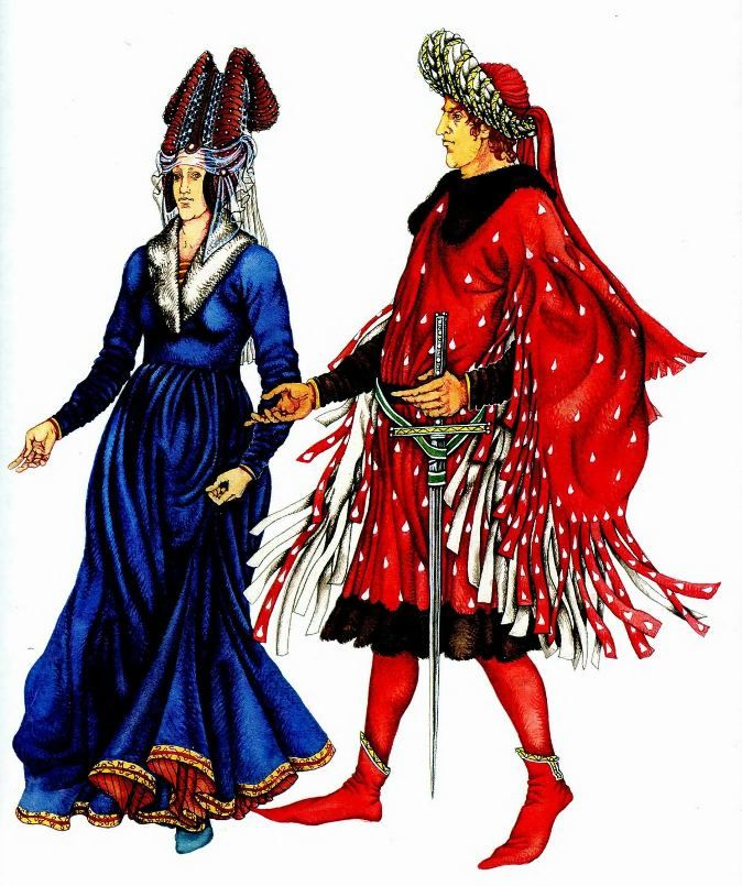 Картинки средние века одежда