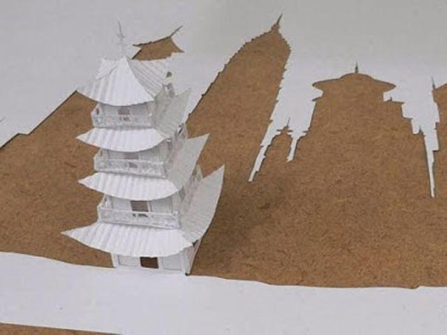 Origami Pagoda Foto HD | Download Foto Fb HD