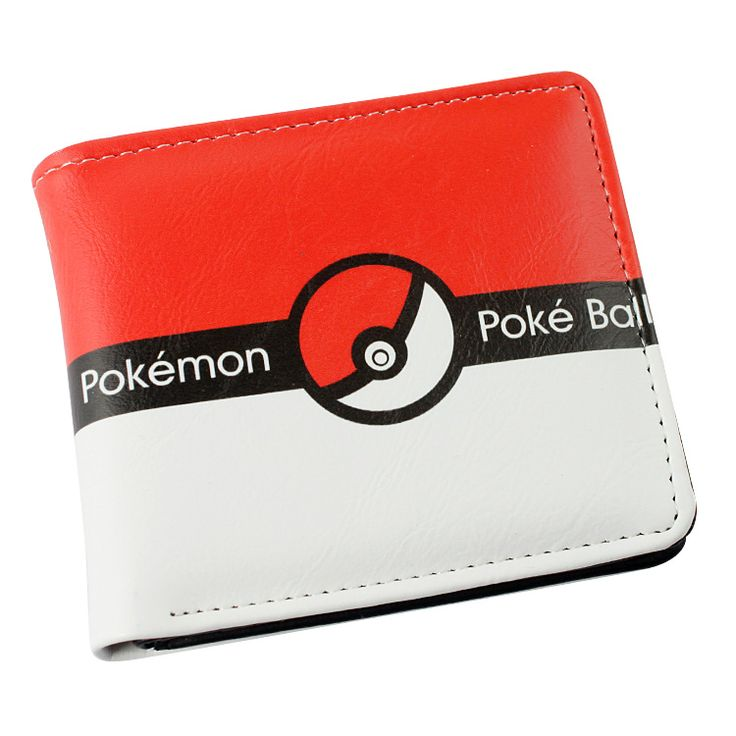Japan anime Pokemon pikachu ball wallet Anime Cosplay men women Bifold Purse