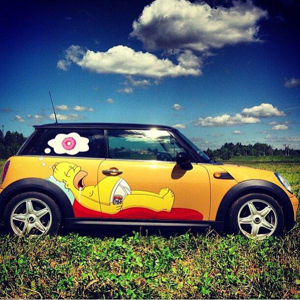 Homer and Mini | MINI Art Cars | Custom MINI cooper | MINI | Mini Cooper | Miniac | art | custom car | cars | car photography | Schomp MINI