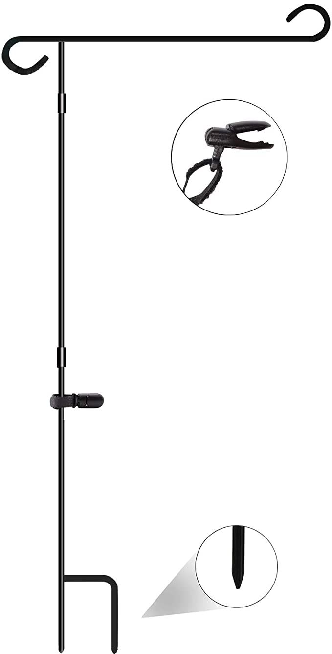 Amazon Com Nirohee Garden Flag Stand Flag Banner Stands Decor Pole Stand Yard Flag Pole Small Banner Flagpole Wr In 2020 Flag Stand Garden Flag Stand Yard Flags