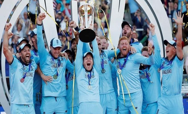 Stand Up For The Champions England Wins World Cup 2019 With Images England Cricket Team World Cup Final Cricket World Cup