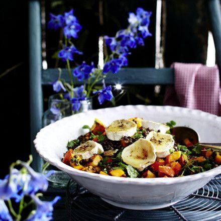 Linsen salat walnusse