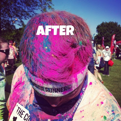 Best Joyous Faces Color Run Team Images On Pinterest Costume - Hairstyle for color run