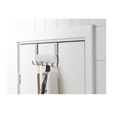 IKEA BROGRUND patère pour porte Un revêtement anti-rayures protège la porte.
