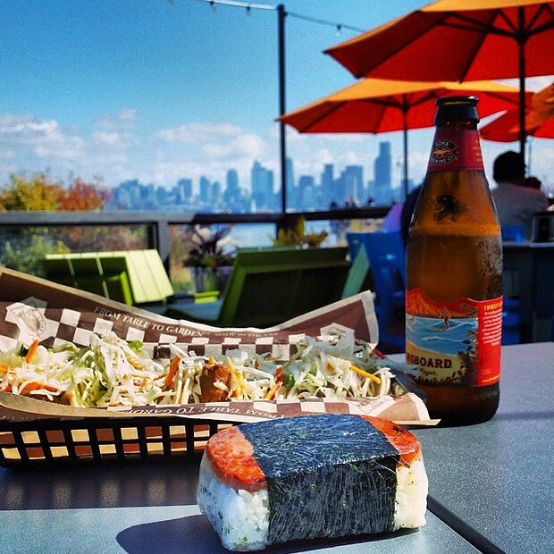 On The Patio At #Marinationmakai #Seattle #tacos