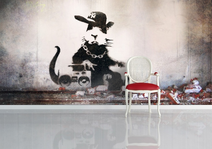 17 best images about art wallpaper on pinterest births for Banksy mural wallpaper