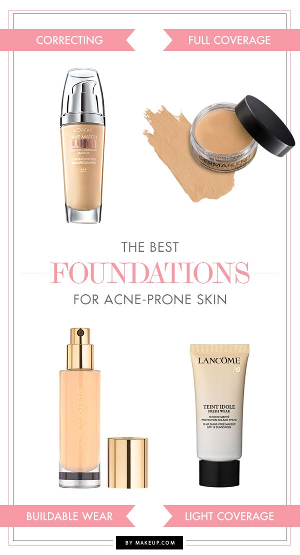 Face your blemishes head on with makeup designed to help you fight the good fight! We went on the hunt to find the BEST complexion-loving coverage options that not only conceal acne, but also help with the process of healing your breakouts at the same time.
