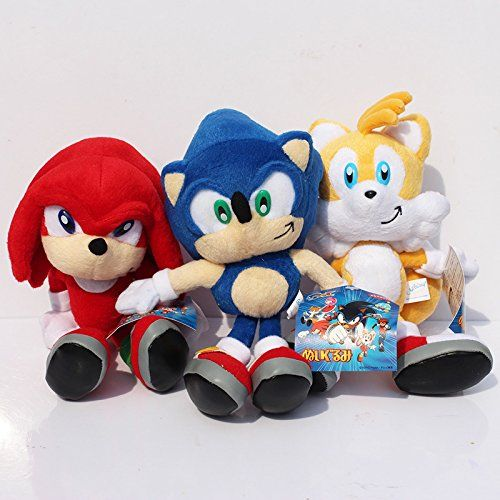 (Sonic Sn004) 23cm 3pcs/lot Sonic the Hedgehog Plush Toys Ultimate Flash Sonic Hedgehog Plush Doll G @ niftywarehouse.com #NiftyWarehouse #Sonic #SonicTheHedgehog #Sega #VideoGames #Gaming