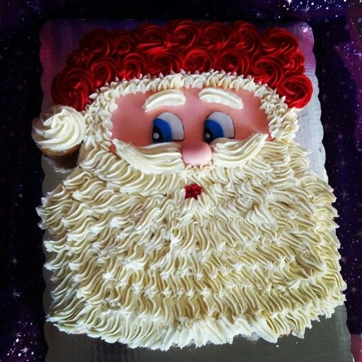 Pasteles Santa en betún de mantequilla