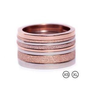 Segments rings 8-p rose/steel PG 6