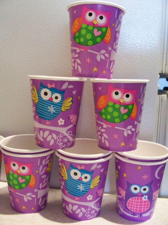 Conjunto de 10 vasos de papel con temas de por SparkleandComfort