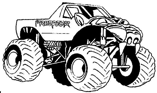 Kleurplaten Monster Trucks Print Predator Monster Truck Monster Trucks Coloring Pages