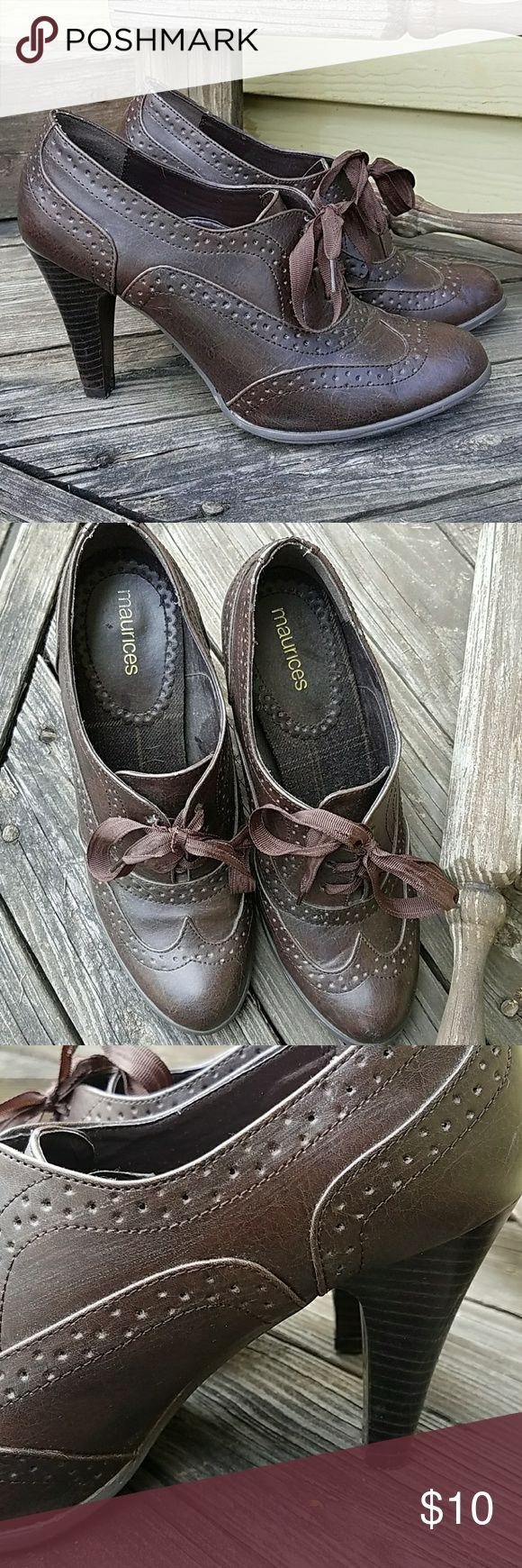 MAURICES Heeled Booties Size 9 Adorable! MAURICES heeled booties! Tie on top with two inch heel. Size 9  Tags: camo country girl southern girl western southwestern buckle miss me justin boots ariat almost famous jeans shorts new follow game sale boho festival summer sale denim shorts jeans skirt mini juniors womens leggings yoga pants vanilla star american eagle aero aeropostale booties heels MAURICES size 9 Maurices Shoes Ankle Boots & Booties