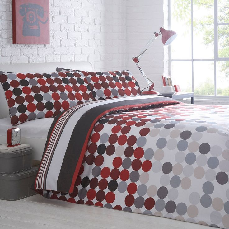 Debenhams Red 'Polka' bedding set- at Debenhams.com