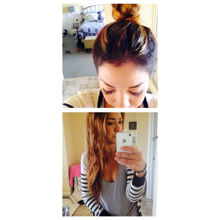 Super easy wavy hair style. After showering, dry your hair ...