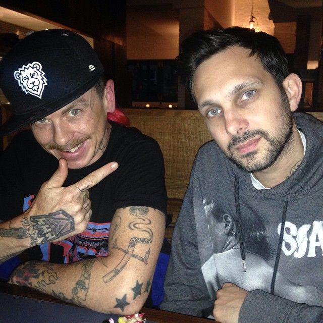 Instagram media by dynamomagician - Hanging with my bro @sidthe3rd ahead of the @slipknot tour!