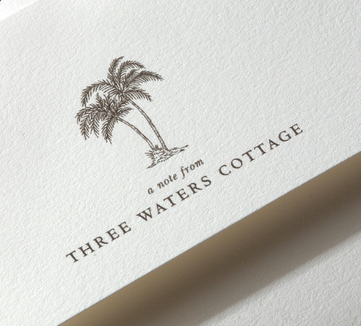 All we need is one palm tree, with one coconut (preferably already opened with a straw in it), on one deserted island and enough stationery to last us until the rescue plane finds us. Or just this design from our new Personalized Stationery collection to remind us to take a deep breath and relax...