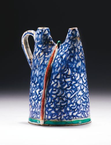 A unique Iznik pottery water flask (matara), Turkey, circa 1580-90 | lot | Sotheby's