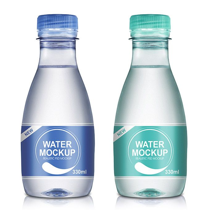330ml Mineral Water Bottle PSD Mockup (Water Bottle Design)