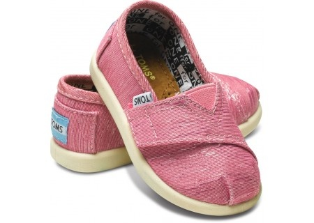 Pink Tiny Toms for baby girls