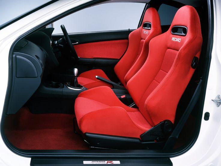 honda integra typer shows   red recaro seats white  interior racing