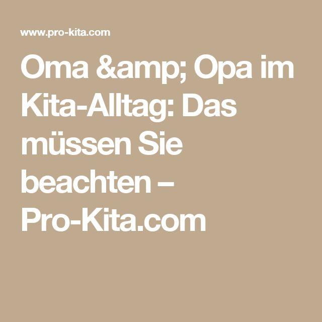 Oma & Opa im Kita-Alltag: Das müssen Sie beachten – Pro-Kita.com