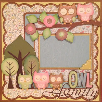 Nanne's Creations: Owl Family- Die Cut challenge S.O.U.S