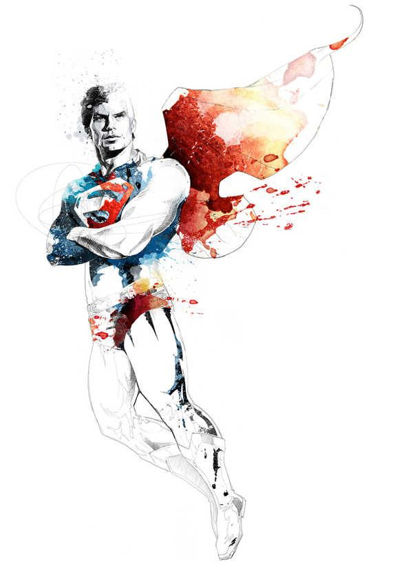 Superman #Acuarela #Art