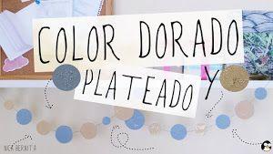 Cómo hacer color dorado y plateado (témperas, pintura acrílica) Nica Bernita