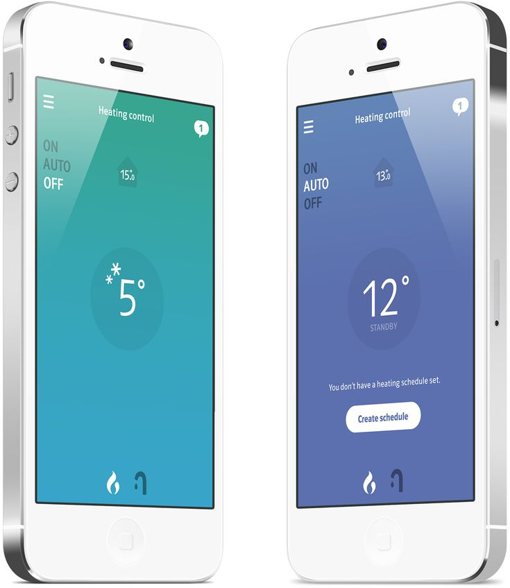 Connected Heating Mobile App on Behance