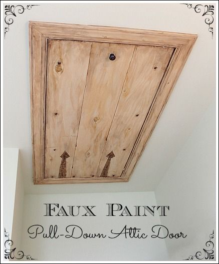 Boys Bedroom Ideas - paint the attic drop-down door to look like an old gate!