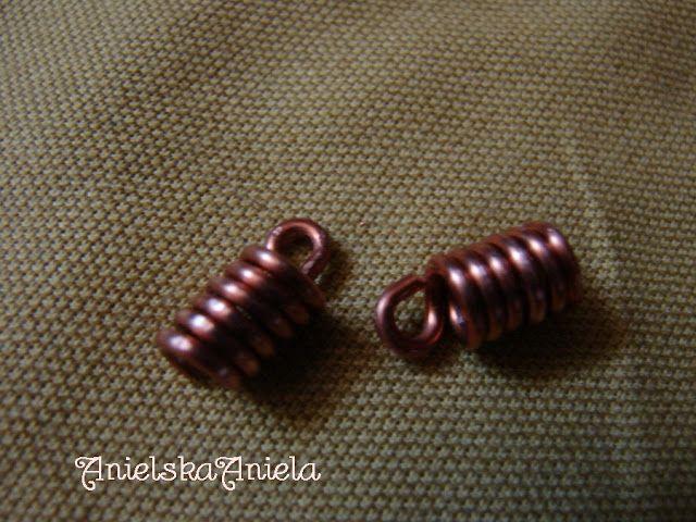 DIY..Tutorial...jak zrobić miedziane zawijane końcówki do naszyjnika?...How to Wire Wrap  copper End Caps ?