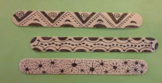Native American Stick Game - drawing pattern