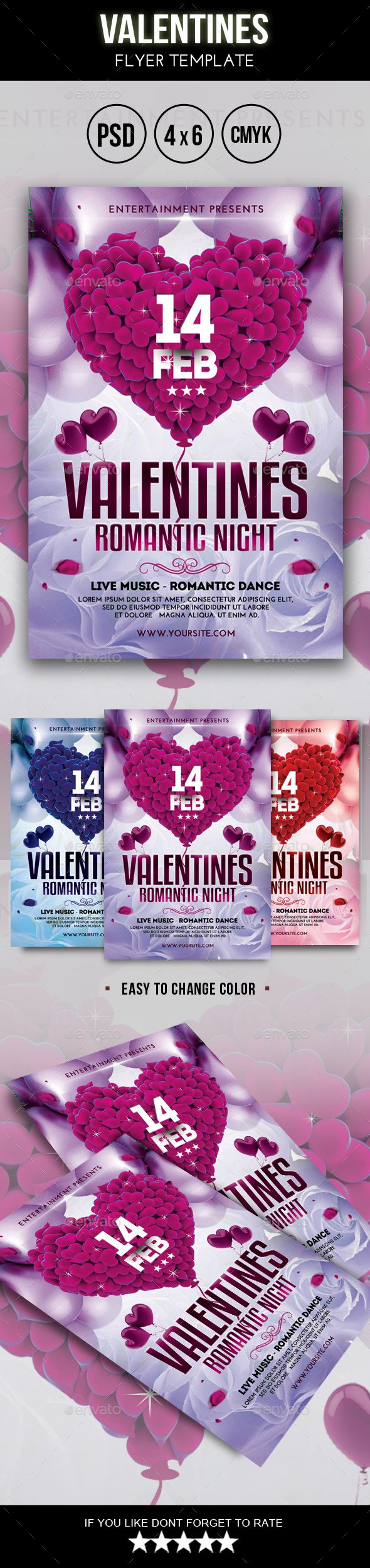 16 best Valentine\'s Day Posters, Flyers, Cards & More! images on ...