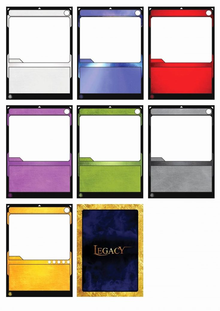 Card game template new elegant trading card template word