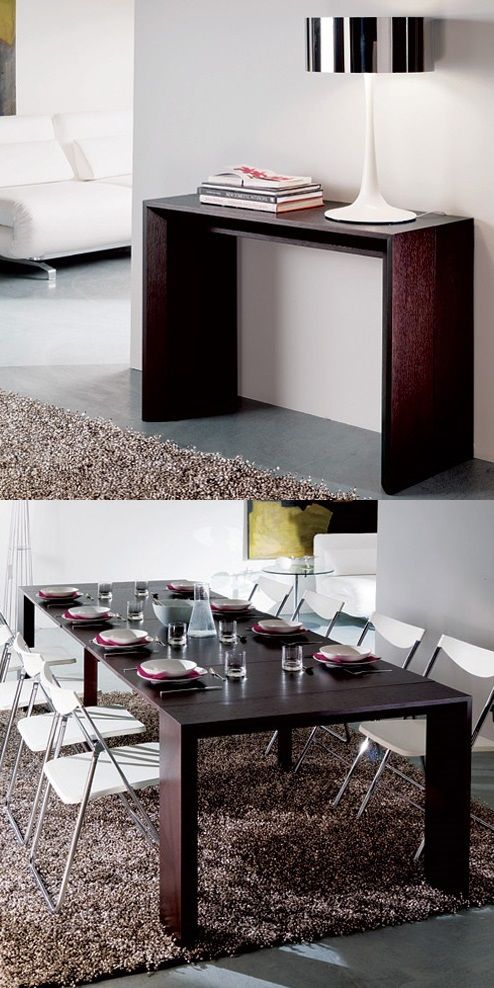 Goliath table by Resource Furniture  This space saving table extends from  17  to 115. Best 25  Space saver dining table ideas on Pinterest   Space