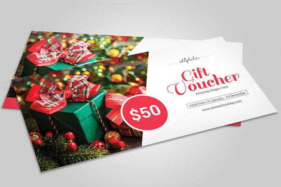 Christmas Gift Voucher template-V06 @creativework247